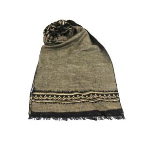 Men's Scarf Stole Pashmina Viscose Polyester Fringed Coveri Collection In Box