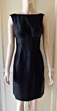 BETTINA LIANO Black Silk Dress Backless with Bow & Sewn in Bra
