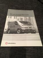 January 2002 Vauxhall Van And Accessory Price Guide UK Brochure