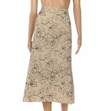 Linen A-line Casual Floral Skirts for Women