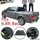 Hard Tri-Fold Tonneau Cover Fit For 99-16 F-250/F-350/F-450 Super Duty 6.8Ft Bed