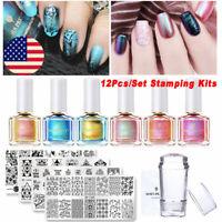 BORN PRETTY  Salon Set Nail Stamping Plates Stamper UV Gel Nail Polish