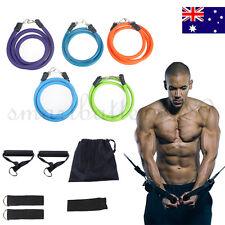 New 11 PCS Resistance Bands Workout Exercise Yoga Set Crossfit Fitness Tubes AU