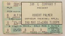 Robert Palmer Ticket Stub - Minneapolis 1986