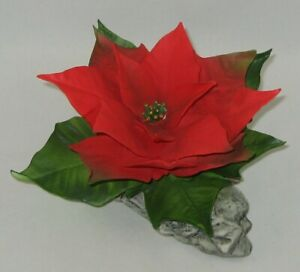 "Boehm Porcelain Flower Sculpture ""RED POINSETTIA"" F240R / Showroom New"