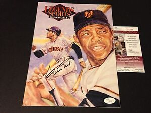 Willie Mays HOF Giants 1995 Legends Sports Magazine Mag Signed Auto JSA COA