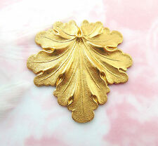 BRASS Woodland LEAF Stamping - Jewelry Finding (FB-6037-814)