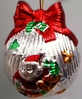 Baby's First Christmas Santa Glass Ornament Bauble In Presentation Box NEW