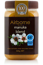 AIRBORNE MANUKA 25+ Pollen Honey Blend 500g Pure Fresh Natural from New Zealand
