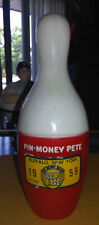 VINTAGE 1950s PIN MONEY PETE BOWLING PIN BANK.
