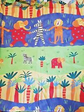 Kids Set of 2 Blackout Door Window Curtain Jungle Safari Kids Bedroom Animal 60""