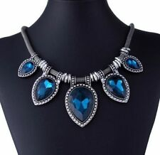 Pear Stone Alloy Beauty Costume Necklaces & Pendants