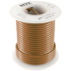NTE WH16-01-25 Hook Up Wire 300V Stranded Type 16 Gauge 25 FT BROWN
