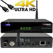 ➨ Octagon sf8008 mini 4k blindados e2 dvb-s2x & dvb-c/t2 Linux combo Receiver USB WLAN ✅