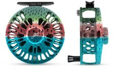 ABEL SUPER 4/5 FLY FISHING REEL IN RAINBOW TROUT COLOR FREE $130 LINE, SHIPPING