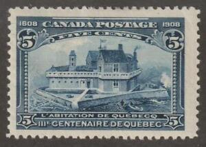 Canada 1908 #99 - Quebec Tercentenary Issue - VF MH