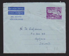 Mauritius 1959 Air Mail letter Aerogramme Definitive 35 Cents Building Iceland