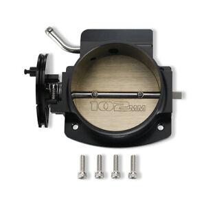 102mm Throttle Body for GM Gen III LS1 LS2 LS3 LS6 LS7 SX CNC Bolt Cable Black