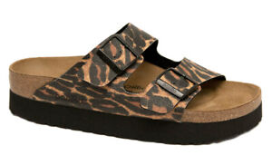 PAPILLIO Birkenstock Sandals ARIZONA LEO cognac Platform narrow Leopard NEW