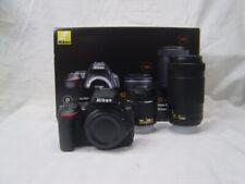 Brand New Original Nikon D5600 + AF-P 18-55mm + 70-300mm Digital SLR Camera US*4