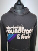 Gio Gio Soundtrack & Field Retro Indie Style Black Hoody Hoodie Pullover Top XL