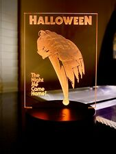 Halloween Light Up Mini Poster By Chainsaw Graphics Myers Loomis Acrylic
