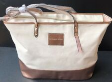 Victoria's Secret Large Weekender Tote Carry-On Canvas Metallic Bag MSRP $78