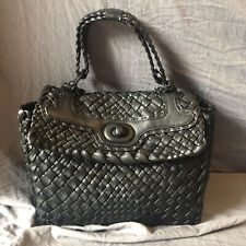 NWOT Falor Italy Woven leather hand
