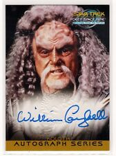 STAR TREK DS9 MFTF WILLIAM CAMPBELL AS KOLOTH A10 AUTOGRAPHED CARD SKYBOX 1999