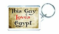 Egypt Keyring - This Guy Loves - Funny Novelty Cute Custom Gift Present