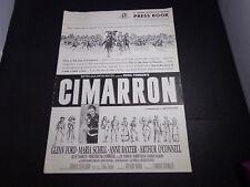 X   CIMARRON Glenn Ford-Maria Schell-Anne Baxter   PRESSBOOK  movie  lg.
