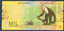 COSTA RICA - 5 000 COLONES Pick n° 276 du 2 septembre 2009 en TTB A012392703