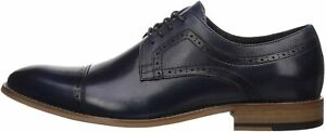 Stacy Adams Mens Dickinson Leather Lace Up Dress Oxfords, Indigo, Size 11.0 5g33