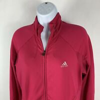 Adidas ClimaCool Women's Full Zip Athletic Track Jacket Medium M Pink