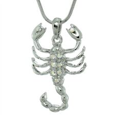 Scorpion Made With Swarovski Crystal Zodiac Desert Ab Color Necklace Chain