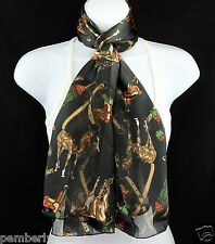 Quarter Horse Womens Scarf Western Saddle Equestrian Gift Black Scarves New