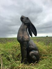 MOONGAZING HARE ORNAMENT STATUE BRONZE EFFECT HAND FINISHED