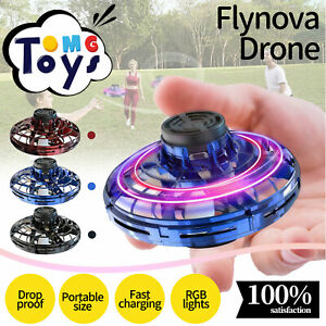 FlyNova Drone Hovering Toy Flying Spinner Boomerang Fidget LED Lights Kids NEW/.