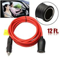 3.6m Car Cigarette Lighter Power Plug Socket Cord Adapter Extension Wire Cable