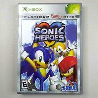 Sonic Heroes Microsoft XBox COMPLETE TESTED Sega Hedgehog Platinum Hits