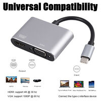 Type C To 4K*2K Hdmi and USB 3.1 Type C To Vga Adapter Hdmi Converter Port HUB
