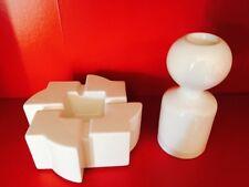 🔴 Ceramica GABBIANELLI anni 70 portacenere + candeliere design LIISI BECKMANN