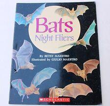 Bats Book Unit Study Reader Homeschool Flying Mammals Night Fliers Scholastic