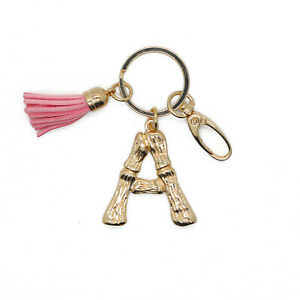 Picalela Initial Letter Alphabet Keychain Keyring Disc Charm Stainless Steel Keychain Name Pendant Keychain