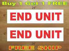 """END UNIT 6""""x24"""" REAL ESTATE RIDER SIGNS Buy 1 Get 1 FREE 2 Sided Plastic"""