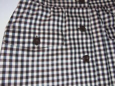 Vtg Escada 40 Button Front Knee Skirt Thin Virgin Wool W28 Pockets Lined Germany
