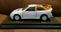 Burago 1/24 1:24 Ford Escort RS Cosworth Model On Stand