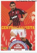 GATTUSO # ITALIA AC.MILAN RARE UPDATE STICKER CALCIATORI 2008 PANINI TOP TEAM