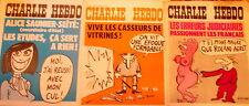 "Lot de 3 ""CHARLIE HEBDO""               15, 22 et 29 avril 1976   n°s 283-284-285"