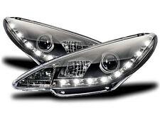 Black finish LED R87 Genuine DRL Headlights SET for Peugeot 206 206CC